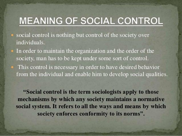 normative control definition