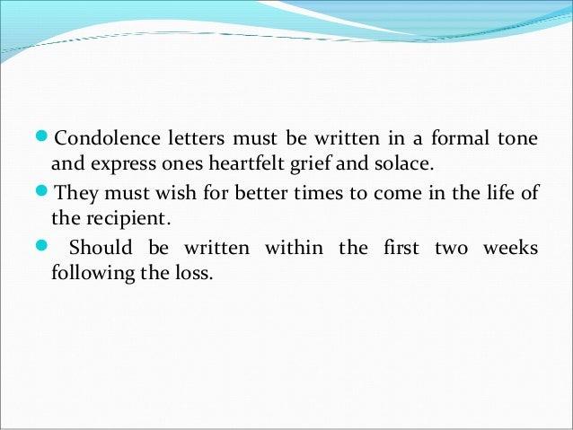 17. Condolence Letters ...  Formal Condolence Letter
