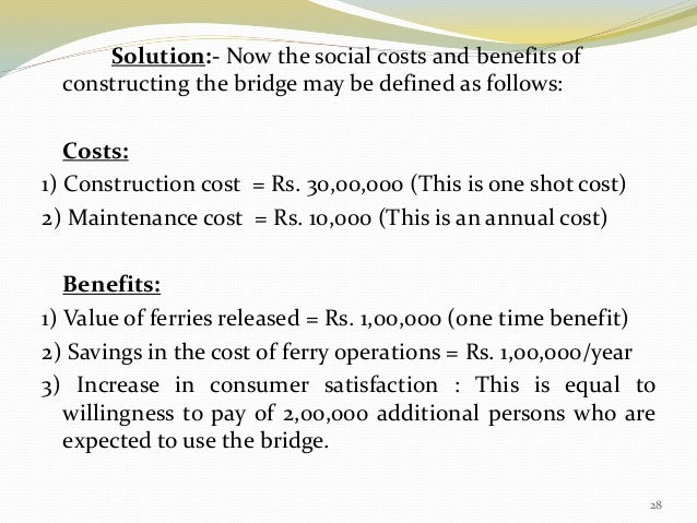 cost benefit analysis of tempisque bridge Cost benefit analysis of tempisque bridge in 1992 , costa rica 's minister of public works and transport (mopt benefit-cost analysis suggested it was worthwhile to construct a bridge over.