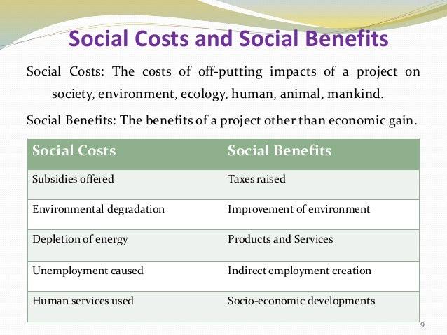 Social Cost Benefit Analysis - Scba - Seminar By Mohan Kumar G