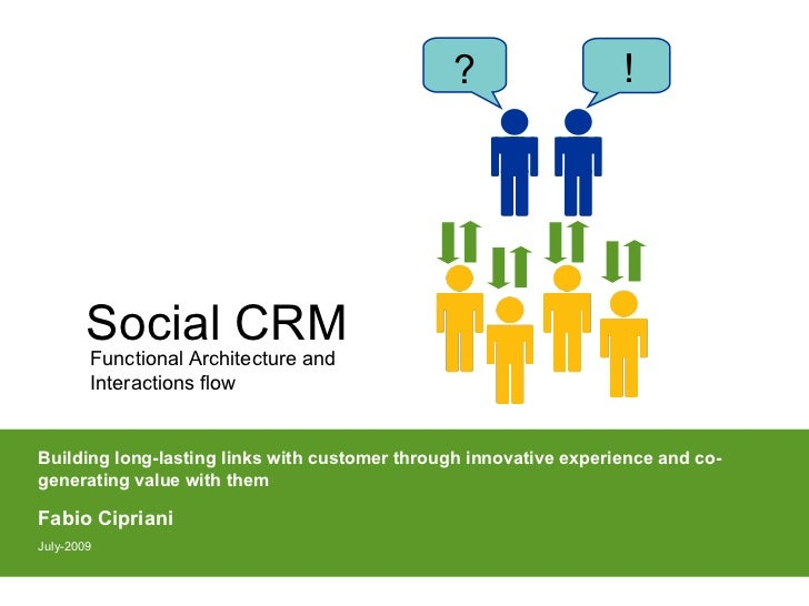 ?                   !             Social CRM         Functional Architecture and         Interactions flow   Building long...