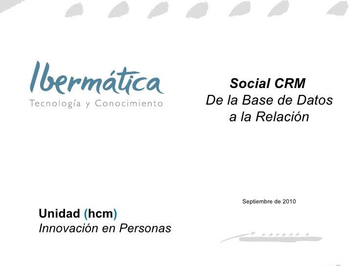 Social CRM de la bbdd a la relación