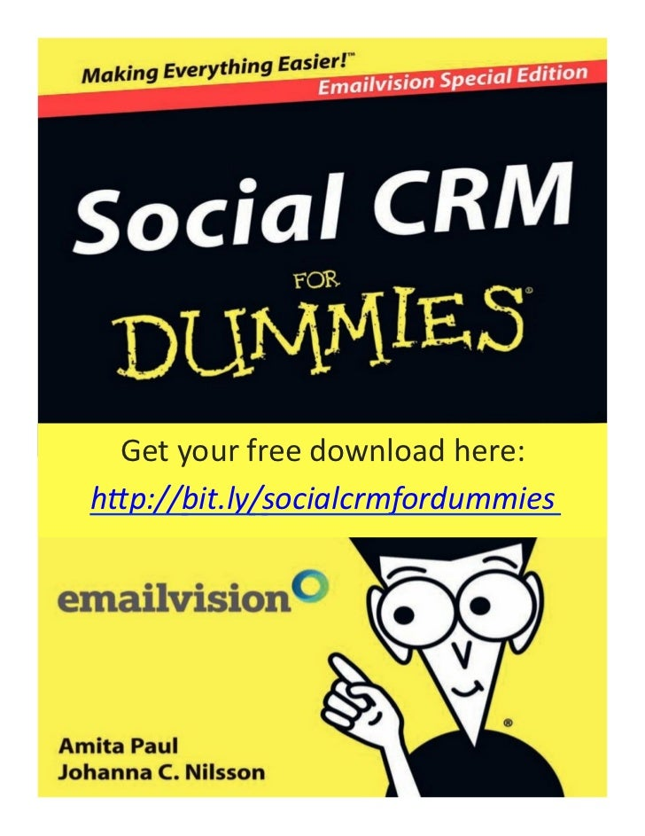 """Get your free download here:  h""""p://bit.ly/socialcrmfordummies"""