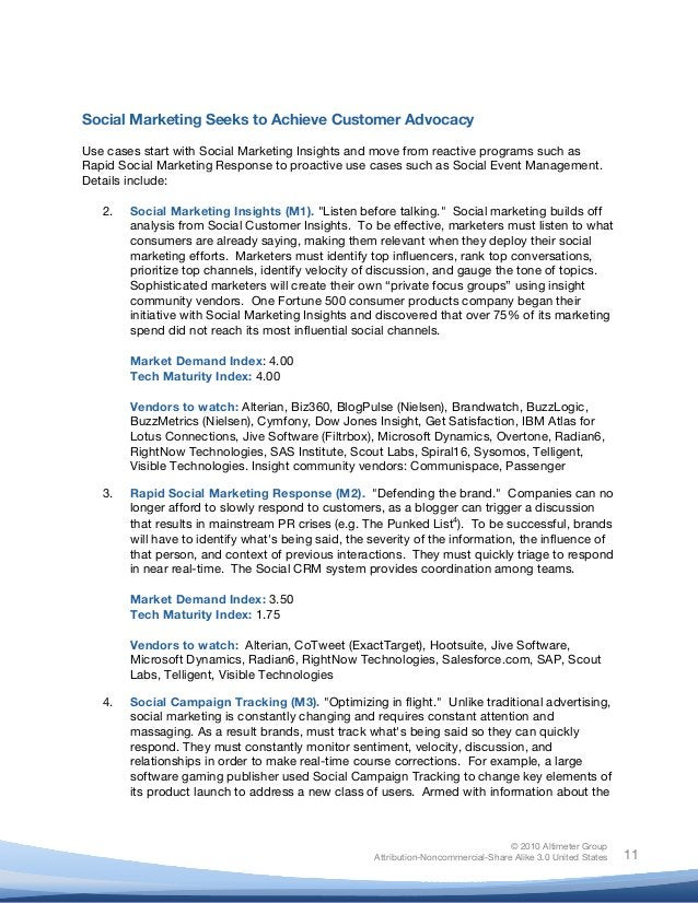 © 2010 Altimeter Group Attribution-Noncommercial-Share Alike 3.0 United States       11 Social Marketing Seeks to Ac...