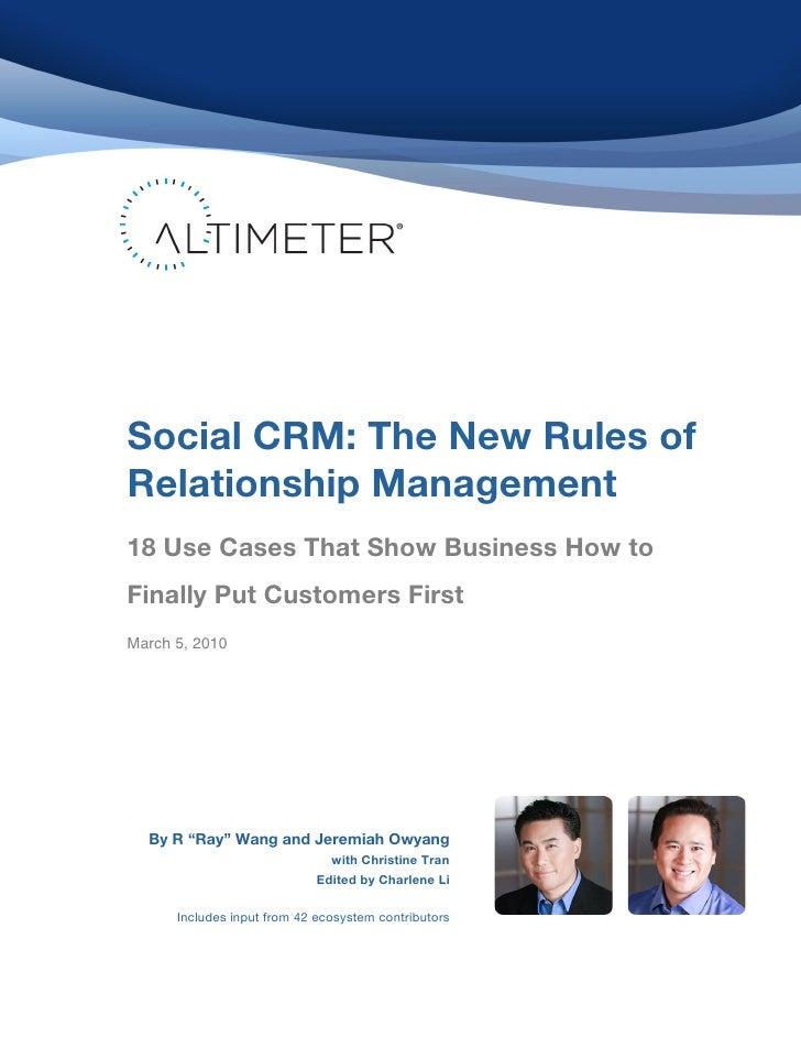 Social CRM: The New Rul...