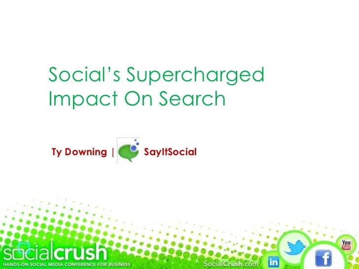 Social's Supercharged Impact On Search Ty Downing |  SayItSocial