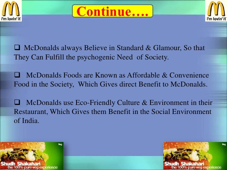 why mcdonalds needs healthier food and friendlier environment The fast food chain also refutes speculations that an unknown preservative is among their mcdonald's hamburger ingredients, and says that their burgers and buns do not decompose simply because they become very dry in the cooking and toasting process.