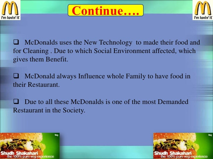 the nonmarket environment of mcdonalds essay Global business strategy of british  eg coke and mcdonalds 13 disadvantages of globalization intense competition widening of  no damage to environment or.