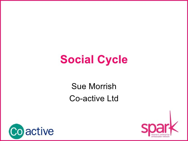 Social Cycle Sue Morrish Co-active Ltd INSERT YOUR LOGO HERE