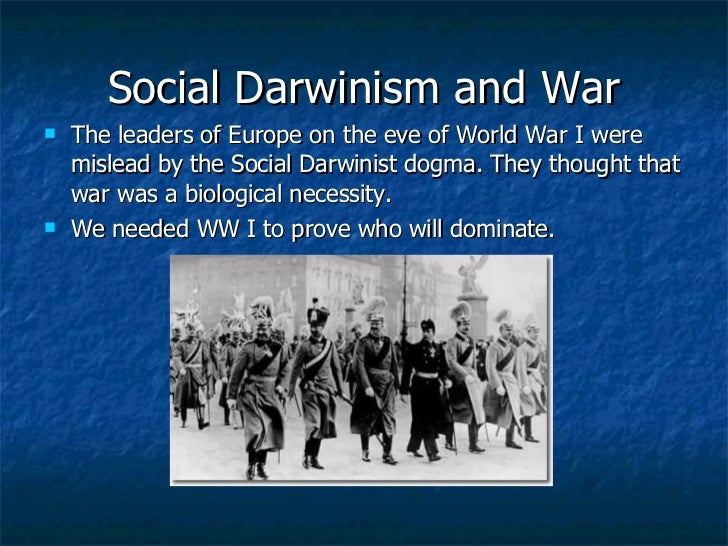 an example of social darwinism in our world history