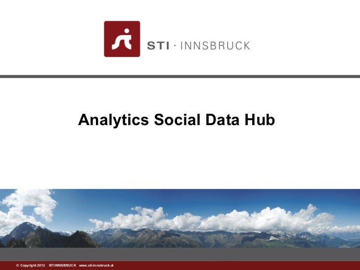 Analytics Social Data Hub©www.sti-innsbruck.at INNSBRUCK www.sti-innsbruck.at Copyright 2012 STI