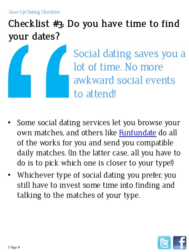 Social dating services