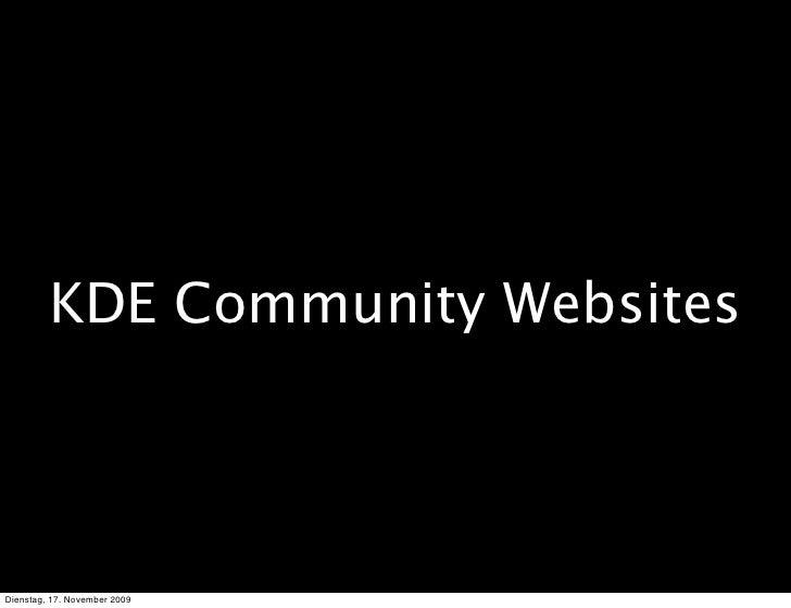 KDE Community Websites     Dienstag, 17. November 2009