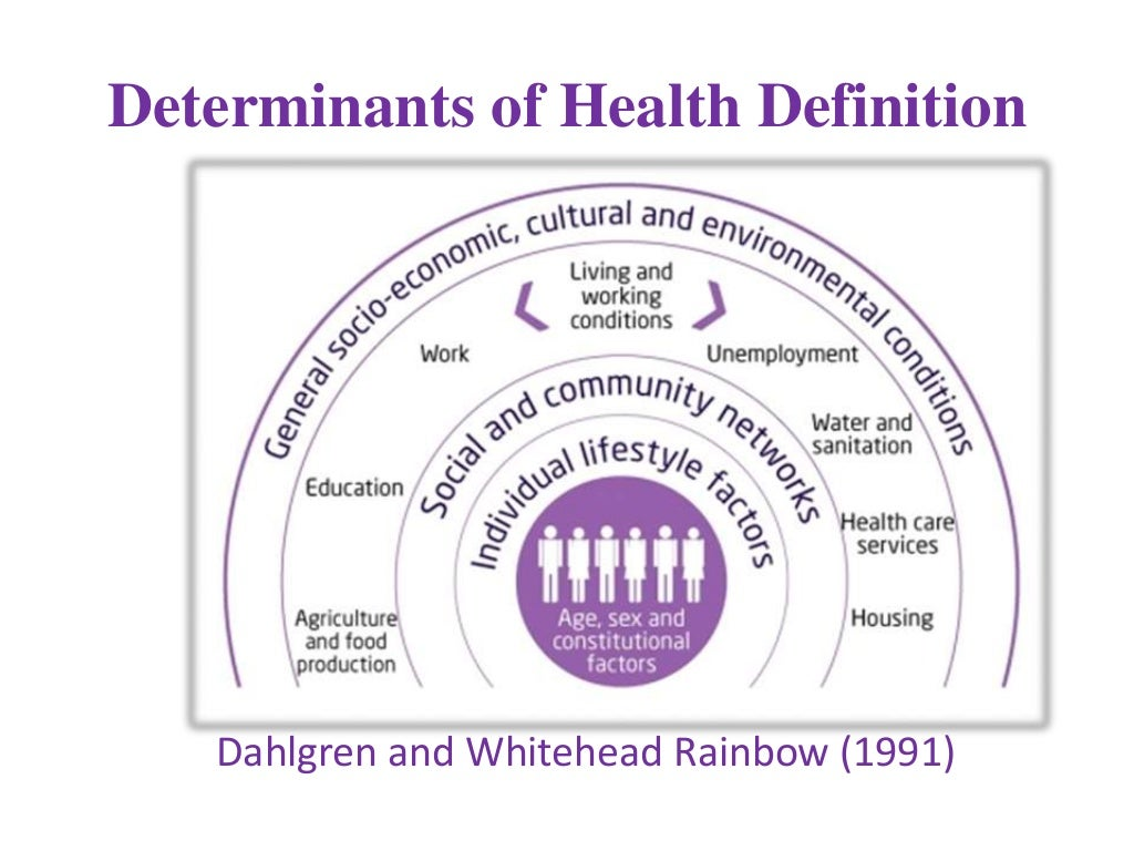 health determinants Socioeconomic status (ses) underlies three major determinants of health: health care, environmental exposure, and health behavior in addition, chronic stress associated with lower ses may also increase morbidity and mortality reducing ses disparities in health will require policy initiatives addressing the components of socioeconomic status.