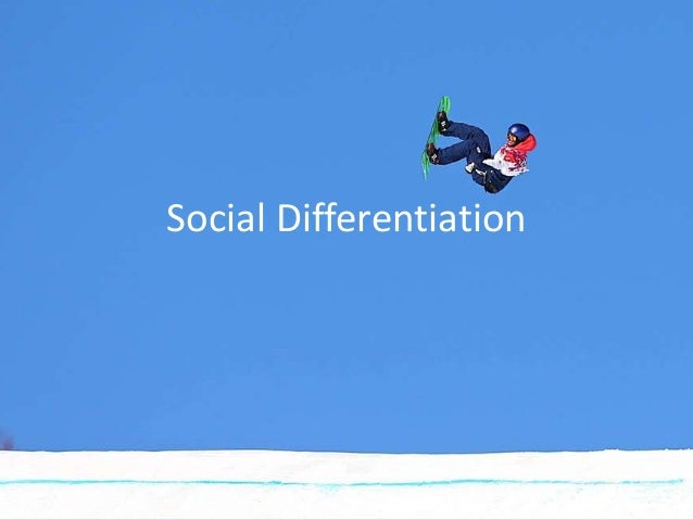social differentiation Social differentation is how people vary due to their personal characteristics(catergorizing) social stratification: how people are ranked according to t he values of society ie wealth, power, access to resources social stratification is adding a vertical ranking to social differentation and is a structured socially patterned social inequality.