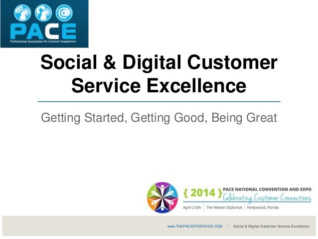 Social & Digital Customer Service Excellence Getting Started, Getting Good, Being Great www.THEPACEOFSERVICE.COM | Social ...