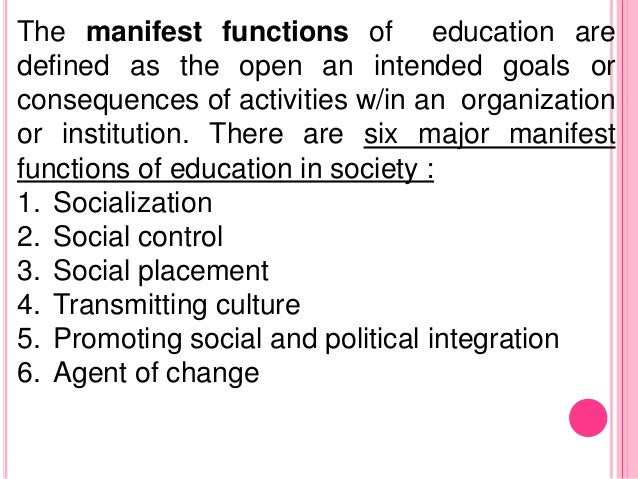 What Are the Functions of Education?