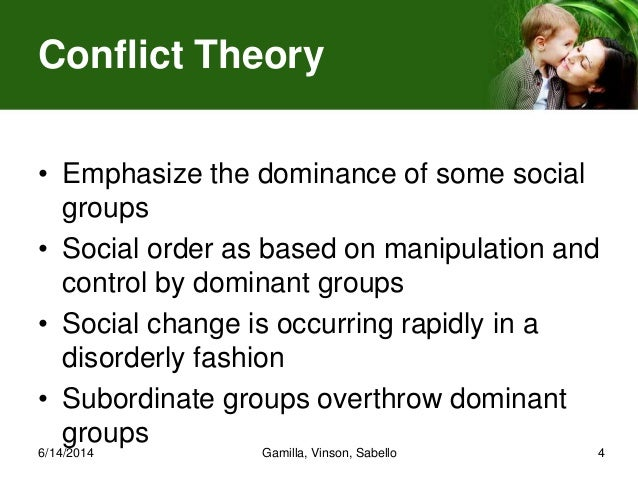 conflict sociology and ever changing nature A review of sociological theories on the causes of poverty  focuses on the  structure and organisation of society and how this relates to social problems   much sociological theory is directed at understanding social change.