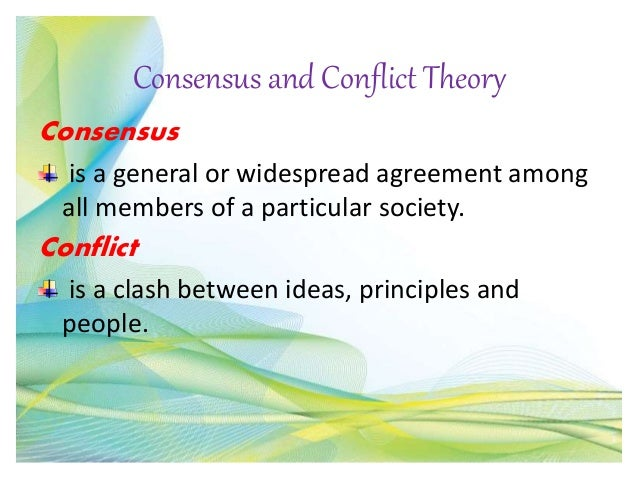 consensus theory in education