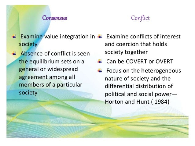 consensus and conflict theory in teaching learning process Guide to teaching and learning pack  • examine consensus theory • examine conflict  studying human society: the sociological approach (h) 19.