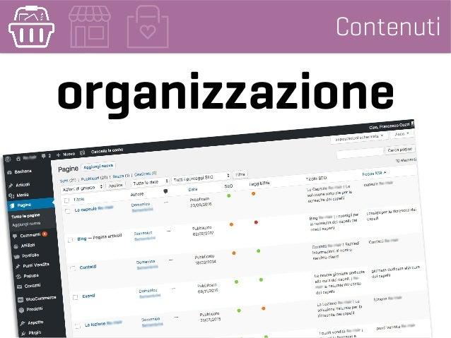Contenuti organizzazione