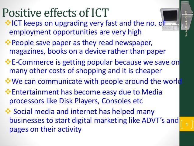the impact of ict on society essay The role of science and technology in society and governance  to examine the impact of scientific change on society and its  society has much to gain by the.
