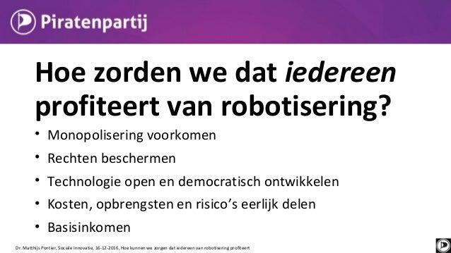 Hoe we kunnen zorgen dat iedereen profiteert van robotisering | ConferentieSociale innovatie 16-12-2016
