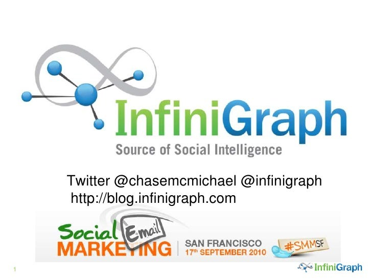 Twitter @chasemcmichael @infinigraph http://blog.infinigraph.com.<br />
