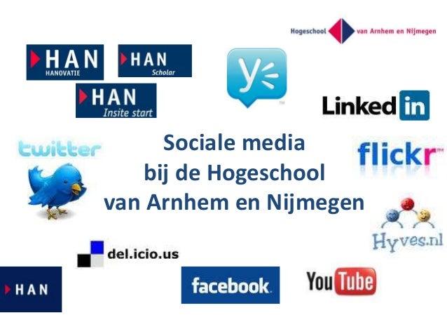 Sociale media bij de Hogeschool van Arnhem en Nijmegen