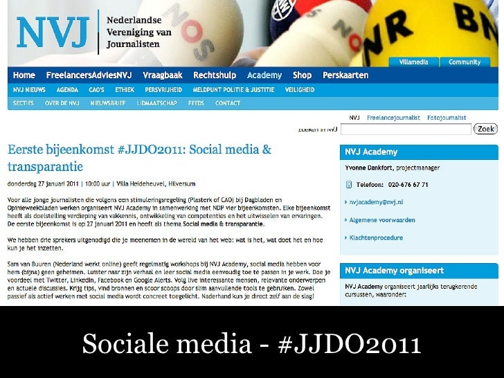Sociale Media – Fluitend aan de Slag! Sociale media - #JJDO2011