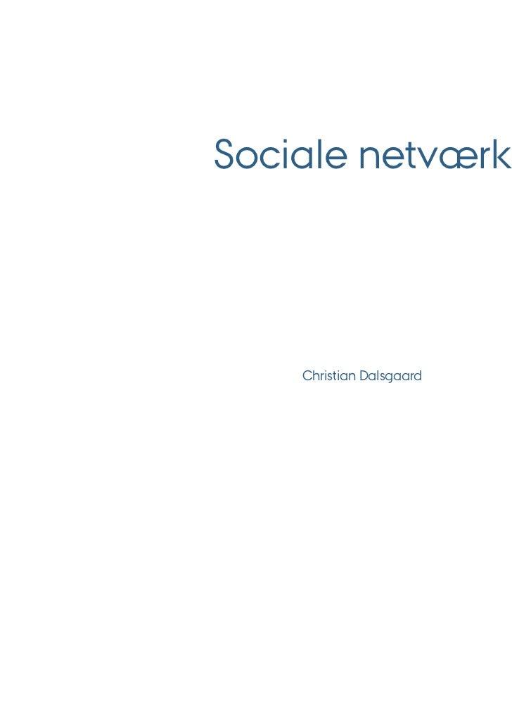 Sociale netværk    Christian Dalsgaard
