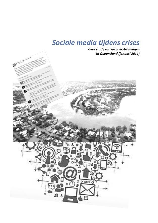 Sociale media tijdens crises Case study van de overstromingen in Queensland (januari 2011)