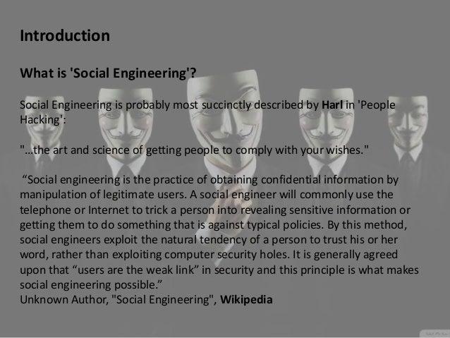 Social engineering presentation Slide 2