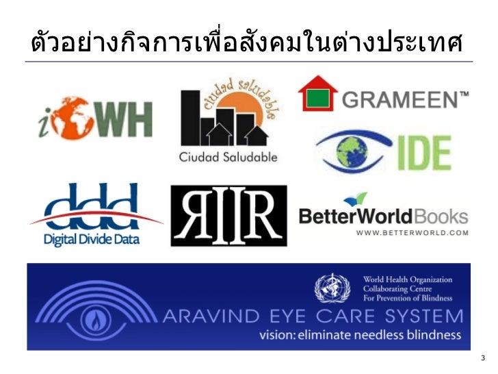 Social Enterprise: World & Thailand Slide 3