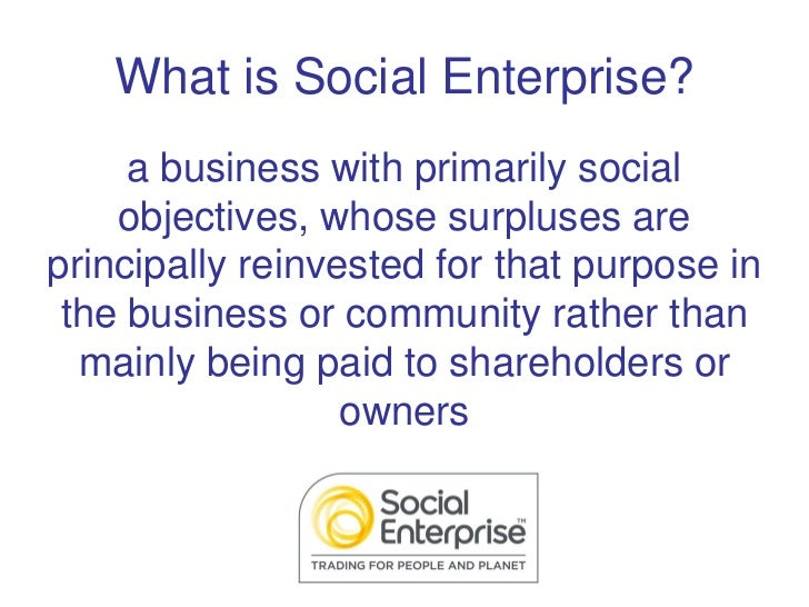 The Big Jump - What is Social Enterprise