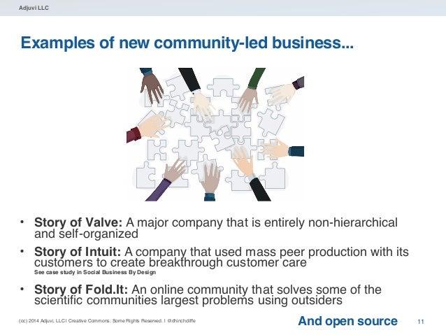 (cc) 2014 Adjuvi, LLC | Creative Commons. Some Rights Reserved. | @dhinchcliffe Adjuvi LLC Examples of new community-led b...