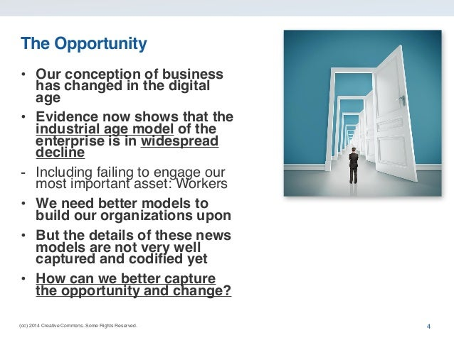 (cc) 2014 Creative Commons. Some Rights Reserved. The Opportunity • Our conception of business has changed in the digital ...