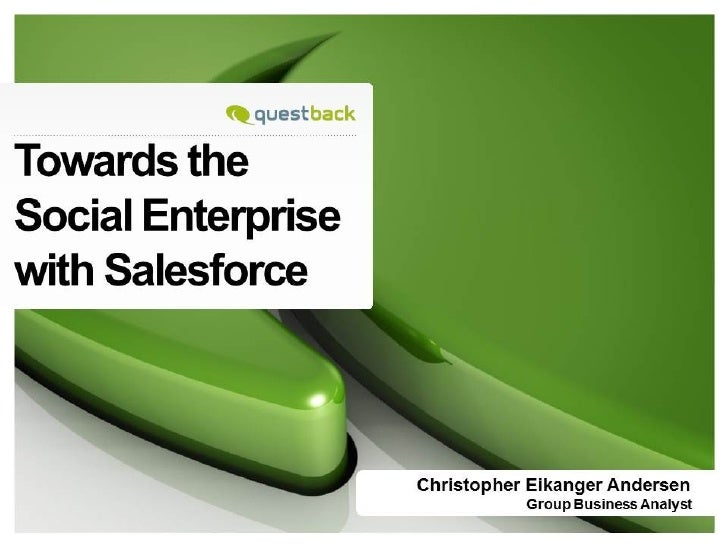 QuestBack towards the Social Enterprise with Salesforce