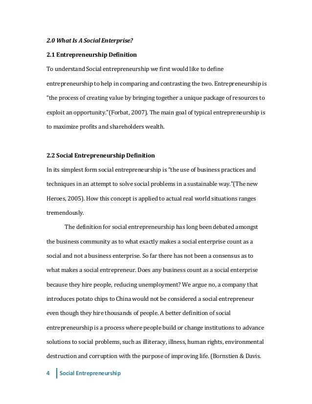 a term paper on entrepreneurship