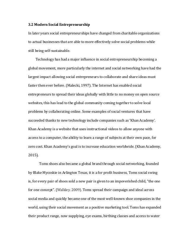 Social entrepreneurship research paper
