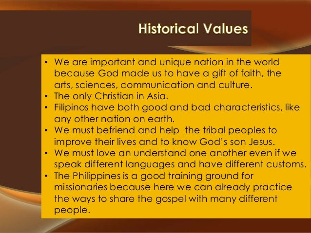 • We are important and unique nation in the world because God made us to have a gift of faith, the arts, sciences, communi...