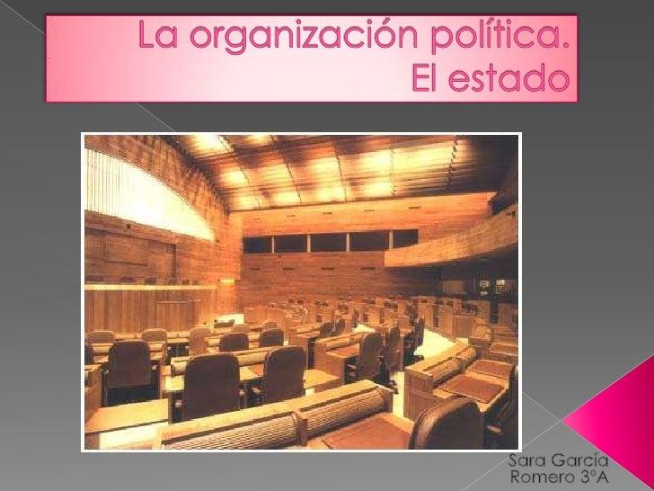  Estados democráticos (3-4)   Organización política española (5)   Esquema de la división de poderes (5)   Las cortes ...
