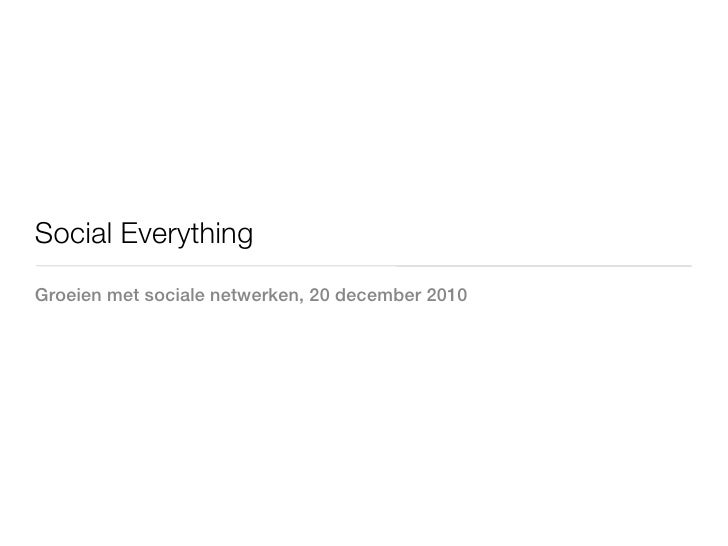 Social everything Oostkapelle