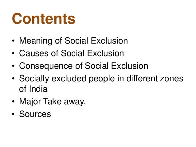social exclusion and poverty in india pdf