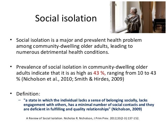 social isolation sociology