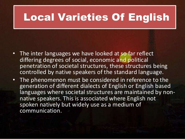 linguistic and social variables Language and society  122 the linguistic variable  social factors in language use, was not available until some decades after the.