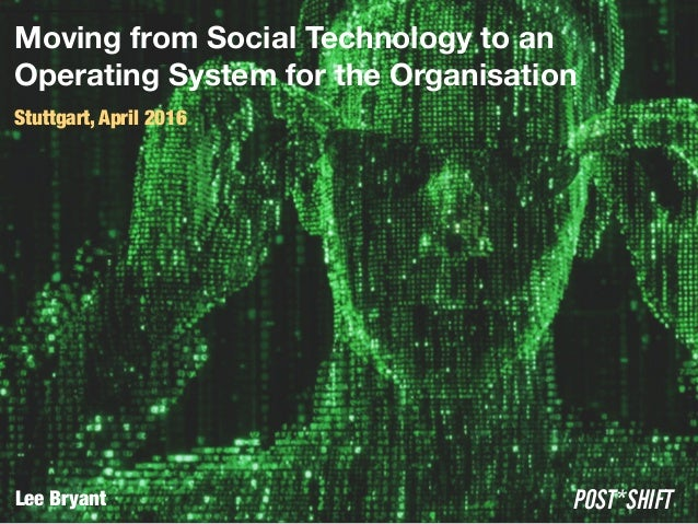 Moving from Social Technology to an
