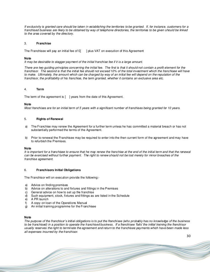 franchising form example