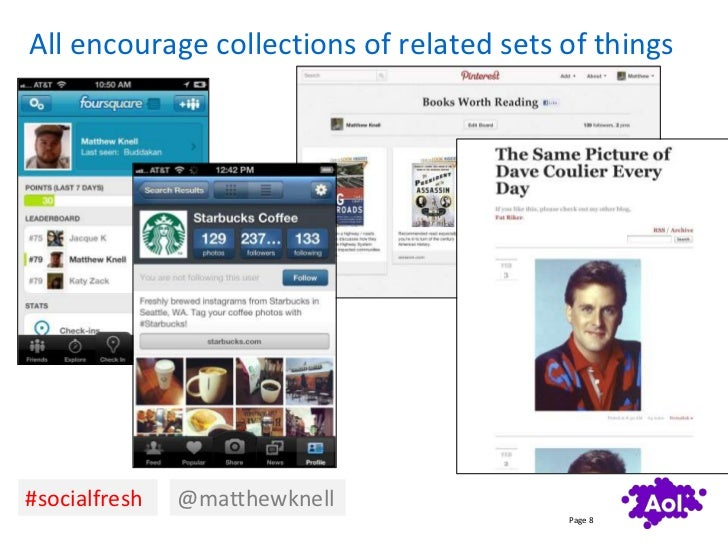 All encourage collections of related sets of things#socialfresh   @matthewknell                                          P...