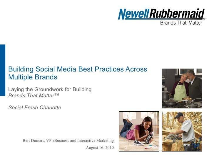 Building Social Media Best Practices Across Multiple Brands Laying the Groundwork for Building  Brands That Matter™ Social...